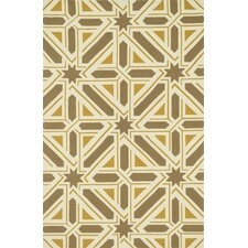 Palm Springs Taupe/Gold Indoor/Outdoor Rug