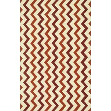 Palm Springs Red/Rust Indoor/Outdoor Area Rug