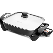"""12"""" Ceramic Non-Stick Skillet with Glass Lid"""