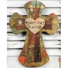 "<strong>Blossom Bucket</strong> ""Every Day is a Gift"" Cross Plaques Wall Décor"