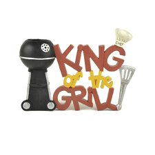 """King Of The Grill"" with Grill Toothpick Holder"
