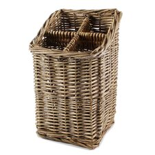 <strong>Blossom Bucket</strong> Wicker Four Place Silverware Holder