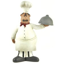 Chef Holding Platter Statue