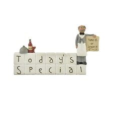 """Today's Special"" Block with Waiter"