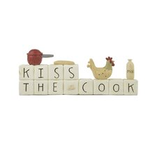 """Kiss The Cook"" Block with Chicken and Pot"