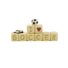 """I Love Soccer"" Block with Ball"