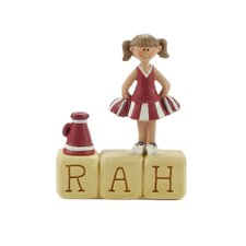 """Rah"" Block with Cheerleader"