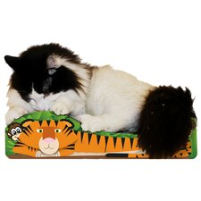Small Tiger Recycled Paper Cat Scratching Board