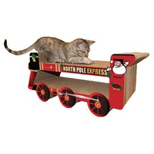 North Pole Express Train Recycled Paper Cat Scratching Board