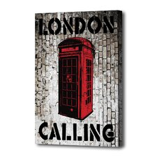 """London Calling"" Graphic Art on Canvas"