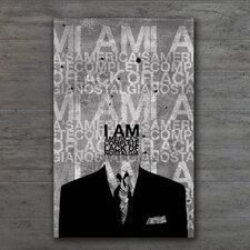 "<strong>Th-Ink Art</strong> ""I Am America"" Gallery Wrapped Canvas Artwork"