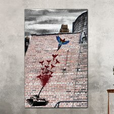 "<strong>Th-Ink Art</strong> ""Bird Blast"" Gallery Wrapped Canvas Artwork"