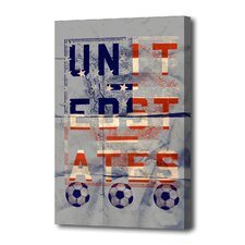 """The USA"" Graphic Art on Canvas"