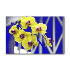 """Hot Orchids"" Gallery Wrapped Canvas Artwork"
