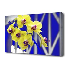 """Hot Orchids"" Photographic Print on Canvas"