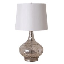 "3-Way 25.5"" Mercury Glass Gourd Table Lamp"