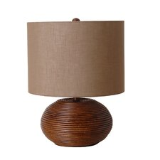 "3-Way 18.5"" Ceramic Wood Inspired Table Lamp"