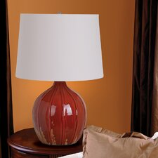 """3-Way Ceramic Gourd 22.5"""" H Table Lamp with Empire Shade"""