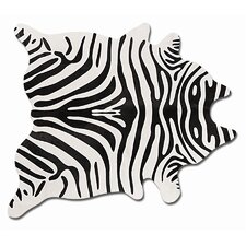 Togo Black/Off-White Zebra Rug