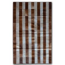 Brown/White Stripe Rug