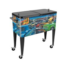 Feeding Frenzy 80 Qt. Rolling Patio Cooler