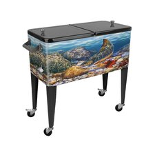 Autumn Brook 80 Qt. Rolling Patio Cooler