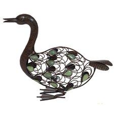 Steel Sitting Duck Figurine