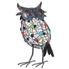 Steel Perching Owl Figurine