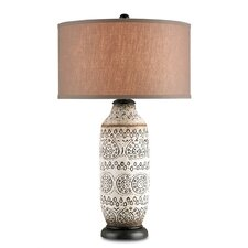 "Intarsia 31"" H Table Lamp with Drum Shade"