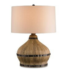 "Farmhouse 31"" H Table Lamp with Drum Shade"
