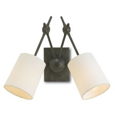 <strong>Currey & Company</strong> Compass 2 Light Wall Sconce