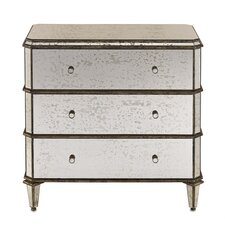 <strong>Currey & Company</strong> 3 Drawer Chest