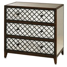 <strong>Currey & Company</strong> Sabrina 3 Drawer Large Chest