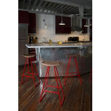 "Roberts 30"" Bar Stool with Inlay"