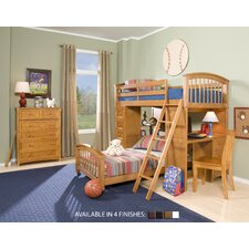 School House Student Loft Bed with Additional Lower Bed