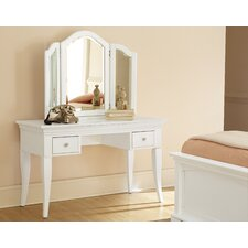 Walnut Street Vanity Set with Mirror