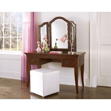 <strong>NE Kids</strong> Walnut Street Storage Mirror Vanity