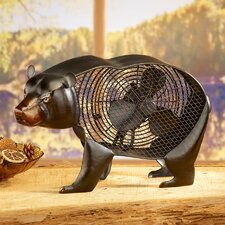 Figurine Bear Table Fan
