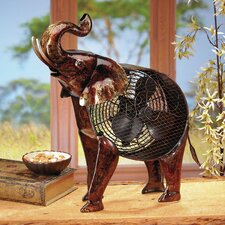Figurine African Elephant Table Fan