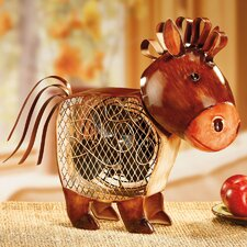 Figurine Country Horse Table Fan