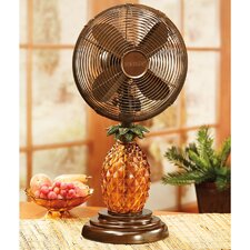 "10"" Glass Pineapple Table Fan"