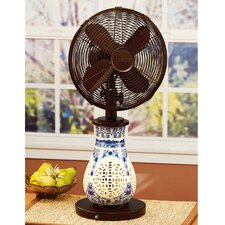 "10"" Asiana Ceramic Glass Table Fan"