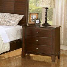 Audrey 3 Drawer Nightstand