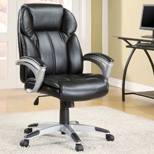 Contemporary Faux High-Back Leather Office Task Chair