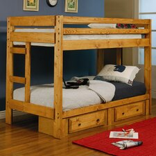 Navarro Twin over Twin Bunk Bed with Built-In Ladder