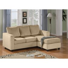 Reversible Velvet Chaise Sectional