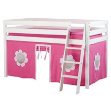 Princess Twin Loft with 3/4 Guard Rail