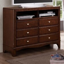 Landsberg 6 Drawer Media Chest
