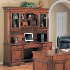Viscante Credenza Desk with Hutch