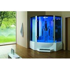 Pivot Door Steam Shower Enclosure Unit